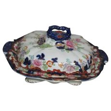 Antique Covered Vegetable/Casserole Dish by Ridgways Simlay Pattern c1880