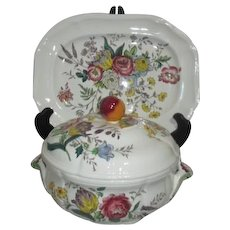 """12"""" Platter and Covered Vegetable Dish Spode Gainsborough Pattern Copeland Great Britain"""