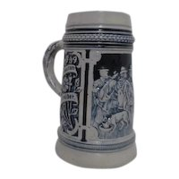 Salt Glaze Post WWII Relief Mug West Germany