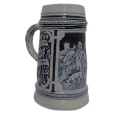 Salt Glaze Post WWII Relief Mug West Germany