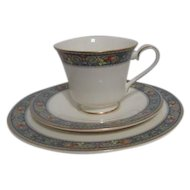 Royal Doulton Set of Cup, Saucer and Salad Plate 1995-97 Westgate Pattern