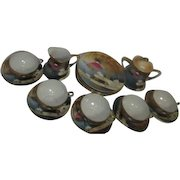 Japanese Dessert Set of 5 Plates 5 Cups & Saucers Cream & Sugar