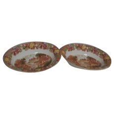 Wood &Sons English Scenery Pattern 2 Open Vegetable Bowls