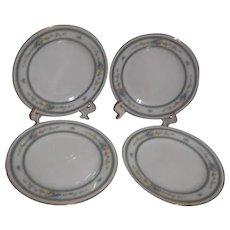 Noritake Amenity Pattern Bread & Butter Plates Set of 4