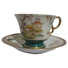 Occupied Japan Cup and Saucer Gold Trim
