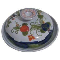 Italian Hand Painted Covered Cheese Serving Dish Brolli & Toniolo