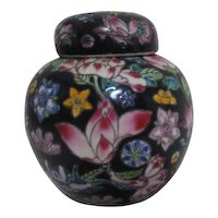 Small Chinese Familia Pattern Ginger Jar Hand Painted