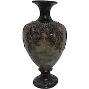 7 Inch High Japanese Vase with Moriage Decoration