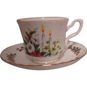 Royal Stafford Bone China Christmas Design Cup and Saucer