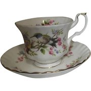 Royal Albert Bone China Cup & Saucer Humming Bird