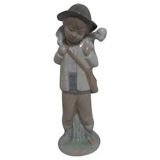 NAO Figurine of Young Shepherd with Lamb