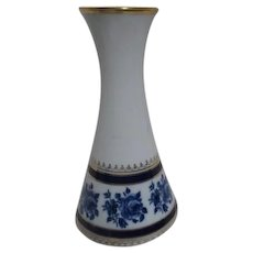 Cobalt Blue White with Gold Trim Royal Porzellan Bavarian Vase
