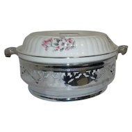 Hall Pattern HLL30 Covered Casserole with Stainless Steel Frame
