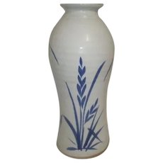 Classic Blue and White Pottery Vase Unglazed Base