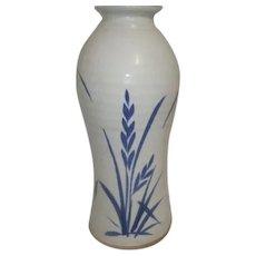 Classic Blue and White Pottery Vase Unglazed Base