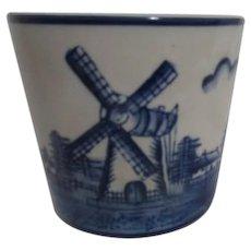 Dutch Motif Blue and White Small Planter Pot