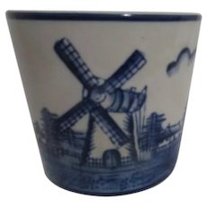 Dutch Motif Blue and White Small Planter Pot