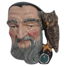 Large Royal Doulton Toby Jug Merlin and Owl D6529