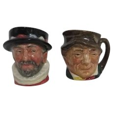Royal Doulton Pair of Small Toby Mugs