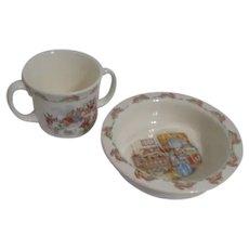 Royal Doulton Bunnykins Bowl and Cup