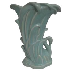 McCoy Swan in Rushes Blue Vase