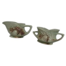 McCoy Pine Cone Cream & Sugar Set