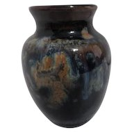 Small Brown Art Pottery Vase