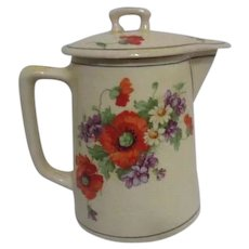 Canonsburg Pottery Co. Covered Syrup Pitcher