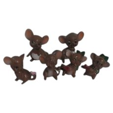 Josef Original Set of 6 Christmas Mice