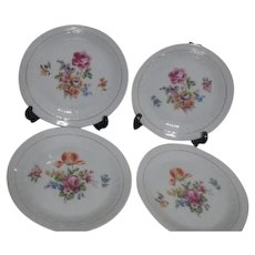 Colditz Pattern CZ11 Set of 4 Salad Plates with Floral Design