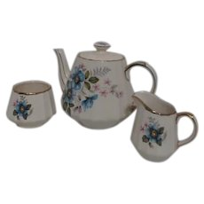Sadler Teapot with Cream & Sugar Pattern #3028