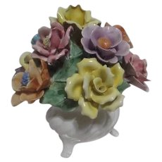 Capodimonte  Vase with Bouquet of Flowers