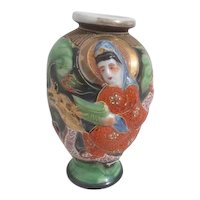 Japanese Vase Female Riding Dragon