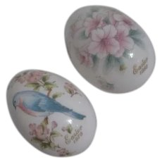 Pair of Noritake Easter Eggs 1979, 1980