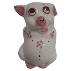 Ceramic Piggy Bank Pink & White c1930's