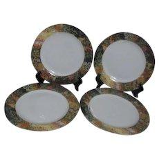 Set of 4 Porcelain Dinner Plates by Sakura Vincent Van Gogh Series