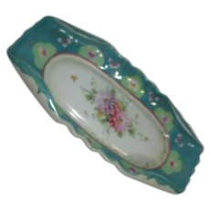Hand Painted Rectangular Serving Bowl 1940's