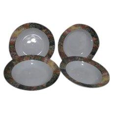 Set of 4 Porcelain Soup Bowls by Sakura Vincent Van Gogh Series