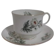 Royal Bengal Bone China Cup and Saucer Daisy Decoration