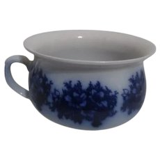 Flow Blue Chamber Pot Made in England