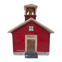 Golden Crown E & R Bone China Little Red Schoolhouse