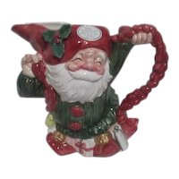 Fitz & Floyd Christmas Ceramic Old World Christmas Elves Pitcher