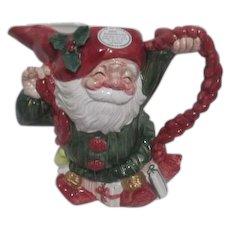 Fitz & Floyd Christmas Ceramic Old World Christmas Elves Pitcher