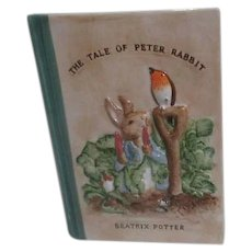 Ceramic Book Shaped Tale of Peter Rabbit Bank