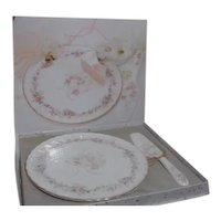Mikasa Forever Love Matching Dessert Plate and Server in Original Box