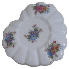 Jubilee Heart Shaped Bone China Box Lidded Floral Decoration