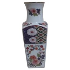Japanese Vase with Chrysanthemums and Gold Trim