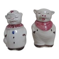 Shawnee Smiley & Winnie Salt & Pepper Shakers 1940's