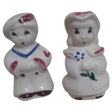 Shawnee Boy Blue (Sailor boy) and Bo Peep Salt & Pepper Shakers