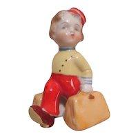 Redcap Bellhop with Luggage Salt & Pepper Single Shaker